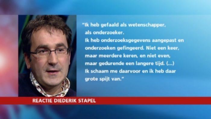 Reactie Diederik Stapel: