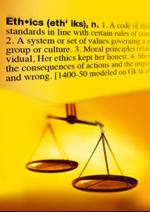 Scale A code of ethical standards in line with certain rules