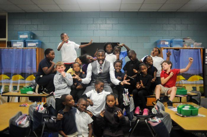 Groepsfoto van de klas van Michael Bonner in Bonnerville