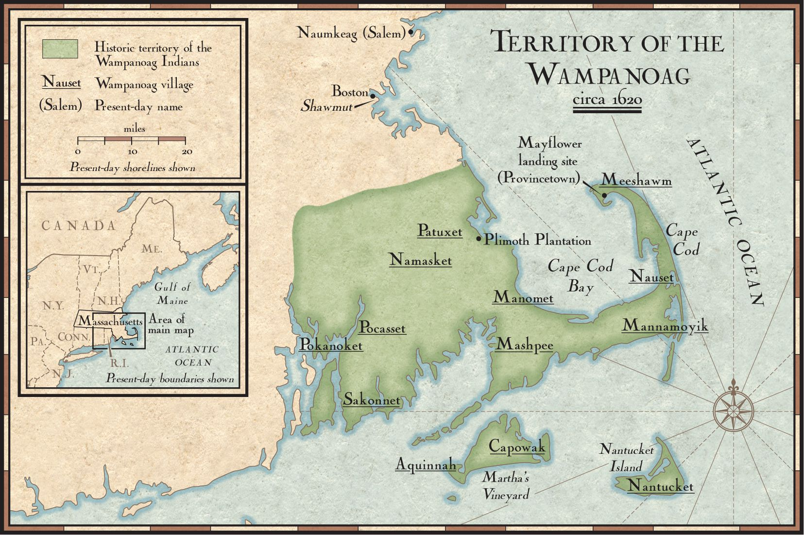 The land of the Wampanoag nation