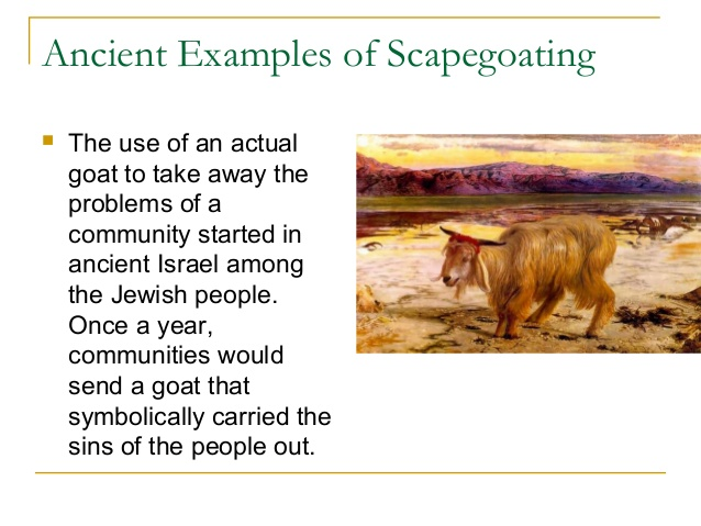 Ancient examples of scapegoating