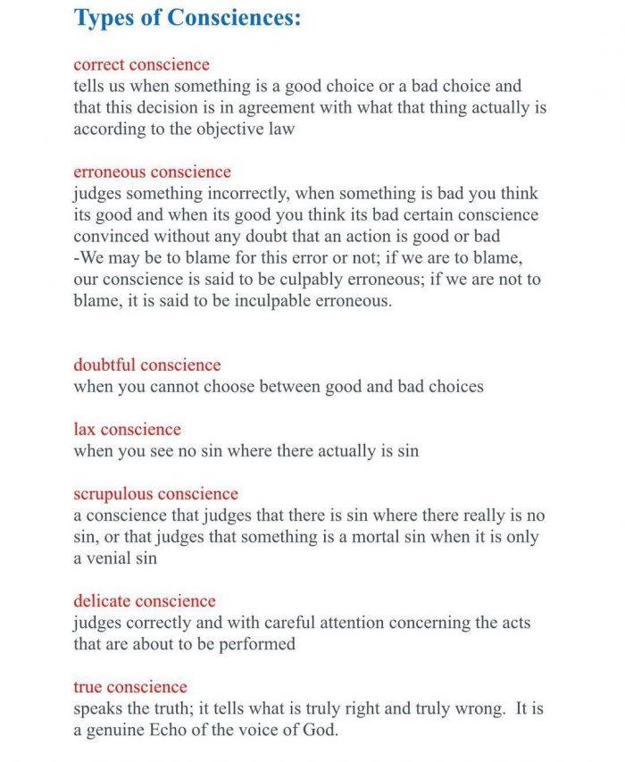 Types of Consciences