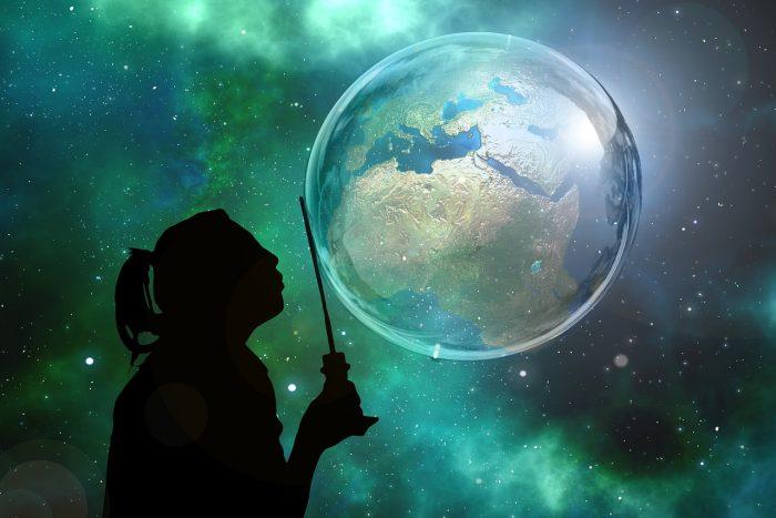 Soap Bubble Globe Earth World Galaxy Global